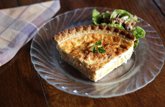 homemade quiche and pie