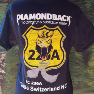 sports car t shirt diamondback route 226A NC little switzerland