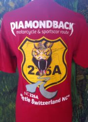 diamondback 226a crew neck t-shirt red